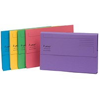 Guildhall Bright Document Wallets, Foolscap, Assorted, Pack of 25