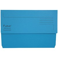 Guildhall Bright Document Wallets, Foolscap, Blue, Pack of 25