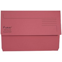 Guildhall Bright Document Wallets, Foolscap, Pink, Pack of 25