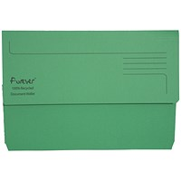 Guildhall Bright Document Wallets, Foolscap, Green, Pack of 25
