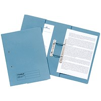 Guildhall Pocket Transfer Files, 420gsm, Foolscap, Blue, Pack of 25