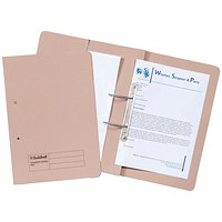 Guildhall Pocket Transfer Files, 420gsm, Foolscap, Buff, Pack of 25