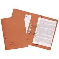 Guildhall Pocket Transfer Files, 420gsm, Foolscap, Orange, Pack of 25