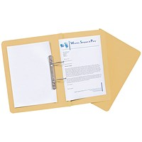 Guildhall Transfer Files, 420gsm, Foolscap, Yellow, Pack of 25
