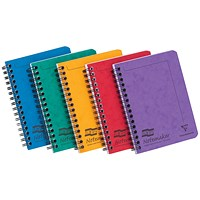 Exacompta Twinwire Notebook, A6, Ruled & Perforated, 120 Pages, Assorted, Pack of 10