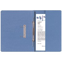 Guildhall Back Pocket Transfer Files, 315gsm, Foolscap, Blue, Pack of 25