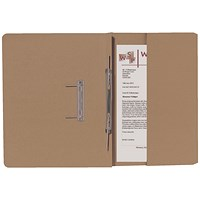 Guildhall Back Pocket Transfer Files, 315gsm, Foolscap, Buff, Pack of 25