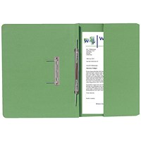 Guildhall Back Pocket Transfer Files, 315gsm, Foolscap, Green, Pack of 25