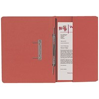 Guildhall Back Pocket Transfer Files, 315gsm, Foolscap, Orange, Pack of 25