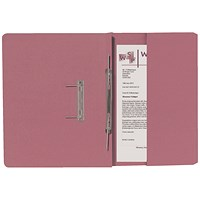Guildhall Back Pocket Transfer Files, 315gsm, Foolscap, Pink, Pack of 25