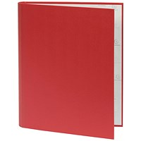 Guildhall Ring Binder, A4, 2 O-Ring, 30mm Capacity, Red, Pack of 10