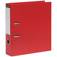 Guildhall A4 Lever Arch Files, Red, Pack of 10