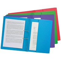 Forever Pocket Spiral File Foolscap Assorted (Pack of 25) 211/5100Z