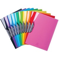 Exacompta Iderama Clip Files A4 Assorted (Pack of 20) 45670E