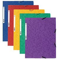Exacompta A4 Portfolio Folders, 3-Flap, Assorted, Pack of 10