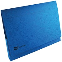 Exacompta A3 Document Wallets, 265gsm, Blue, Pack of 25
