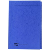 Exacompta Square Cut Folders, 265gsm, Foolscap, Blue, Pack of 50