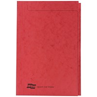 Exacompta Square Cut Folders, 265gsm, Foolscap, Red, Pack of 50
