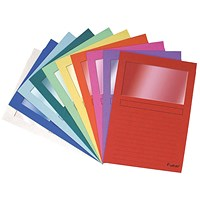 Forever A4 Window Files, Assorted, Pack of 100