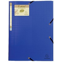 Exacompta Forever Elasticated 3 Flap Folder Blue (Pack of 15)