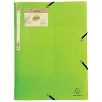 Exacompta Forever Elasticated 3 Flap Folder Lime (Pack of 15)