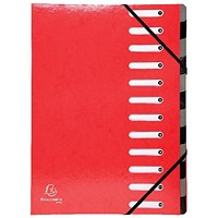 Exacompta Iderama File, 12-Part, A4, Red