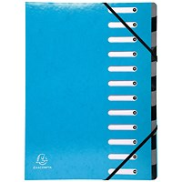 Exacompta Iderama File, 12-Part, A4, Blue