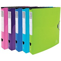 Exacompta Iderama Ring Binder Polypropylene A4 Assorted (Pack of 6)