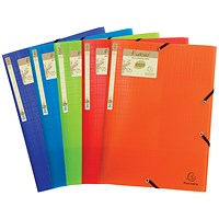 Exacompta Forever Elasticated 3 Flap Folder Assorted (Pack of 15)