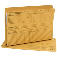 Exacompta Guildhall Pre-Printed Human Resources File 315gsm Yellow (Pack of 50) 211/1300Z