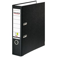 Exacompta Lever Arch File Vegan A4 Black (Pack of 20)