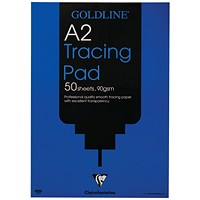 Clairefontaine Goldline Professional Tracing Pad 90gsm A2 50 Sheets GPT1A2