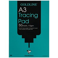 Goldline Tracing Pad, A3, 112gsm, 50 Sheets