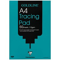 Goldline Heavyweight Tracing Pad, A4, 112gsm, 50 Sheets