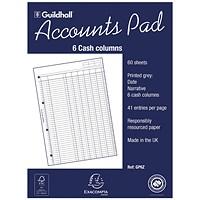 A43 Cash Columns Accountants A4 Analysis Pads