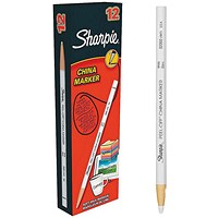 Sharpie China Wax Marker Pencil, White, Pack of 12