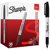 Sharpie Permanent Marker Fine Black (Pack of 36)