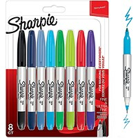 Sharpie Twin Tip Permanent Marker Assorted (Pack of 8)
