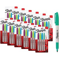 Sharpie 08 Permanent Marker Fun Fine Assorted Blister (Pack of 4)