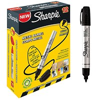Sharpie Pro Permanent Marker, Bullet, Black, Pack of 12