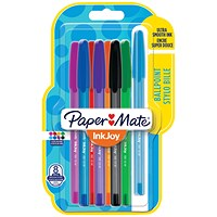 Paper Mate Assorted Ballpoint Pens, Assorted Colours, Pack of 8