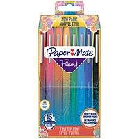 PaperMate Flair Original Felt Tip Pens Assorted (Pack of 16)