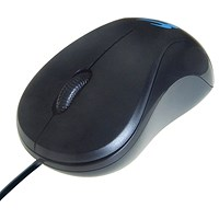 Computer Gear 3 Button Optical Scroll Mouse Black