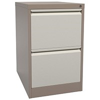 Graviti Foolscap Filing Cabinet, 2-Drawer, Brown & Cream