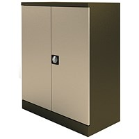 Graviti Plus Steel Stationery Cupboard, 1020mm High, Coffee & Cream