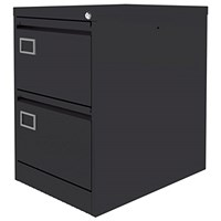 Graviti Plus Foolscap Filing Cabinet, 2-Drawer, Black