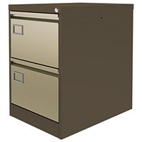 Graviti Plus Foolscap Filing Cabinet, 2-Drawer, Coffee & Cream