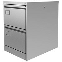 Graviti Plus Foolscap Filing Cabinet, 2-Drawer, Grey