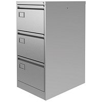 Graviti Plus Foolscap Filing Cabinet, 3-Drawer, Grey