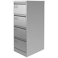 Graviti Plus Foolscap Filing Cabinet, 4-Drawer, Grey